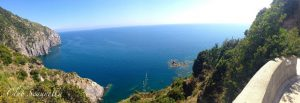 Cliff top sea view Laila Sell Italy yoga retreat 2017